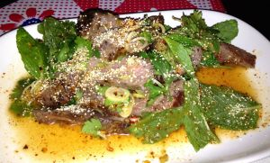 Spicy Issan Steak Salad, Pok Pok NY, Brooklyn